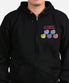 Custom Grand kids sweethearts Zip Hoodie