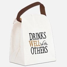Drinks Well With Others Canvas Lunch Bag
