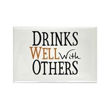Drinks Well With Others Rectangle Magnet (10 pack)
