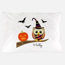 Custom name Halloween owl Pillow Case