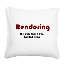 Rendering Lifestyle Square Canvas Pillow