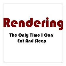 """Rendering Lifestyle Square Car Magnet 3"""" x 3"""""""