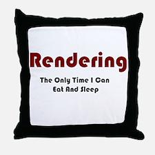 Rendering Lifestyle Throw Pillow