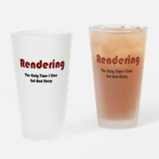 Rendering Lifestyle Drinking Glass