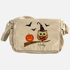 Custom name Halloween owl Messenger Bag