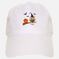 Custom name Halloween owl Baseball Baseball Cap