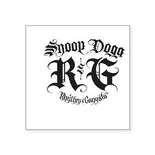 "snoop dogg Square Sticker 3"" x 3"""