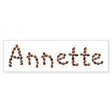 Annette Coffee Beans Bumper Bumper Sticker