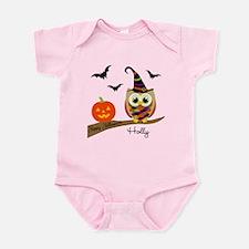 Custom name Halloween owl Infant Bodysuit
