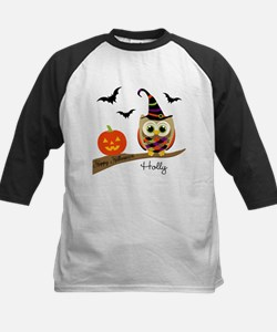 Custom name Halloween owl Kids Baseball Jersey