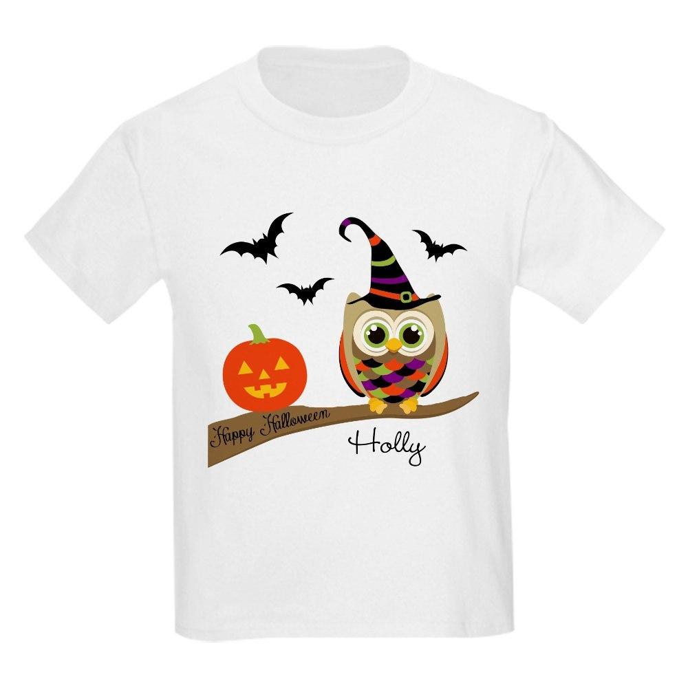 CafePress Custom name Halloween owl Kids Light