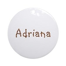 Adriana Coffee Beans Round Ornament