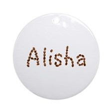 Alisha Coffee Beans Round Ornament