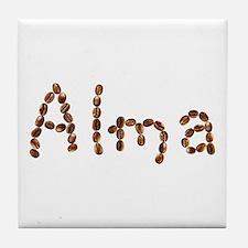 Alma Coffee Beans Tile Coaster