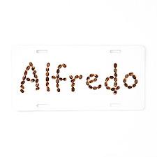 Alfredo Coffee Beans Aluminum License Plate