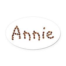 Annie Coffee Beans Oval Car Magnet