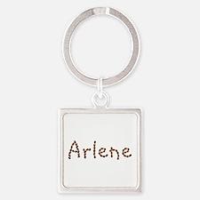 Arlene Coffee Beans Square Keychain