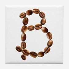 B Coffee Beans Tile Coaster