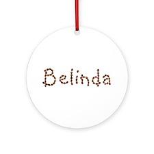 Belinda Coffee Beans Round Ornament