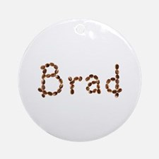 Brad Coffee Beans Round Ornament