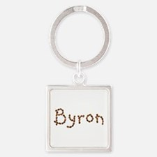 Byron Coffee Beans Square Keychain