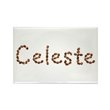 Celeste Coffee Beans Rectangle Magnet