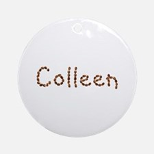 Colleen Coffee Beans Round Ornament