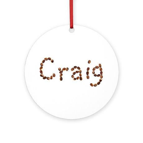 Craig Coffee Beans Round Ornament
