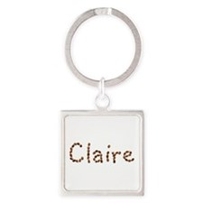 Claire Coffee Beans Square Keychain