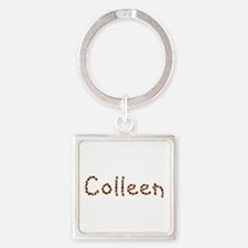 Colleen Coffee Beans Square Keychain