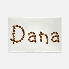 Dana Coffee Beans Rectangle Magnet