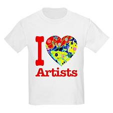 I Love Artists T-Shirt