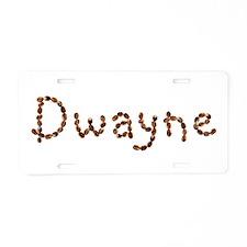 Dwayne Coffee Beans Aluminum License Plate