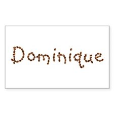 Dominique Coffee Beans Rectangle Decal