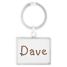 Dave Coffee Beans Landscape Keychain