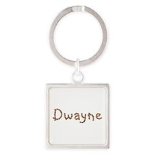 Dwayne Coffee Beans Square Keychain