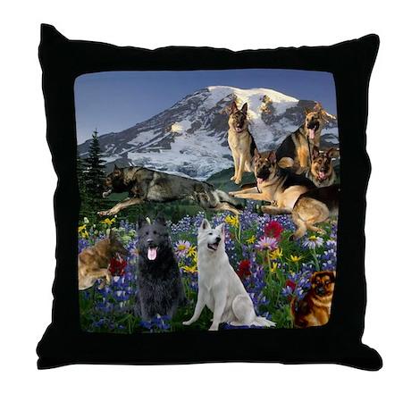 German Shepherd Country Throw Pillow
