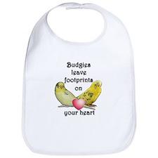 Budgies leave footprints on your heart Bib