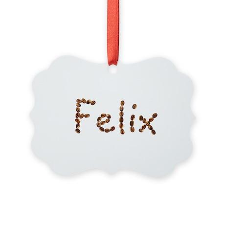 Felix Coffee Beans Picture Ornament