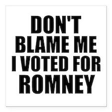 "I voted Romney Square Car Magnet 3"" x 3"""