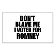 I voted Romney Decal