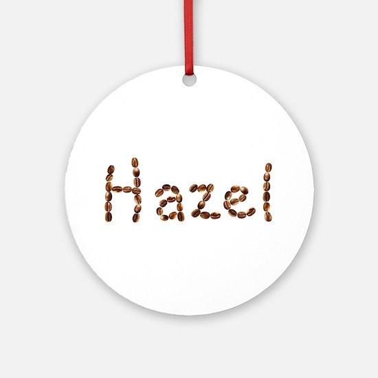 Hazel Coffee Beans Round Ornament