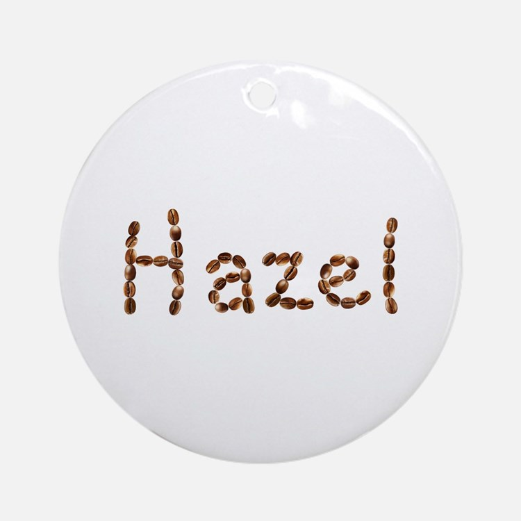 Hazel Coffee Beans Round Ornament