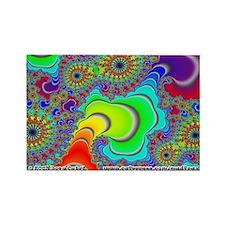 Fractal R~14 Rectangle Magnet (10 pack)