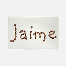 Jaime Coffee Beans Rectangle Magnet