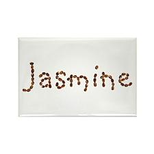 Jasmine Coffee Beans Rectangle Magnet