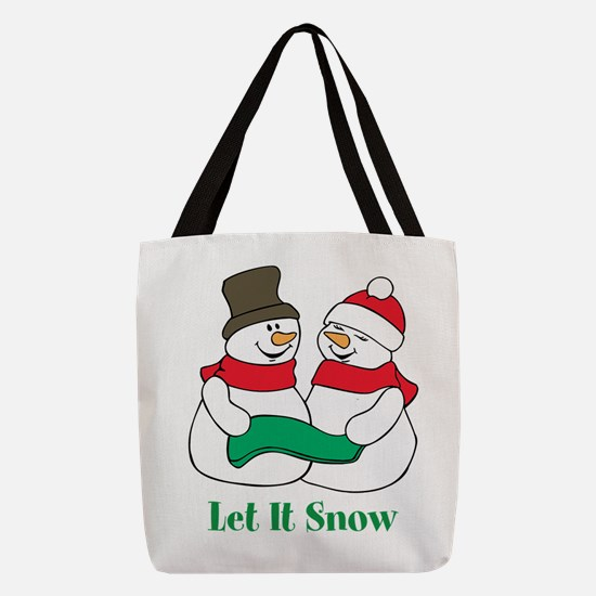 Snowman Polyester Tote Bag