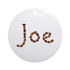 Joe Coffee Beans Round Ornament