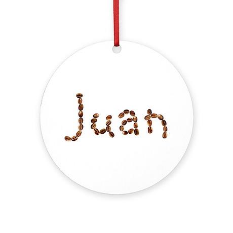 Juan Coffee Beans Round Ornament