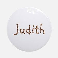 Judith Coffee Beans Round Ornament